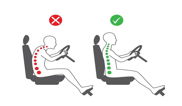 Conducir en la postura correcta