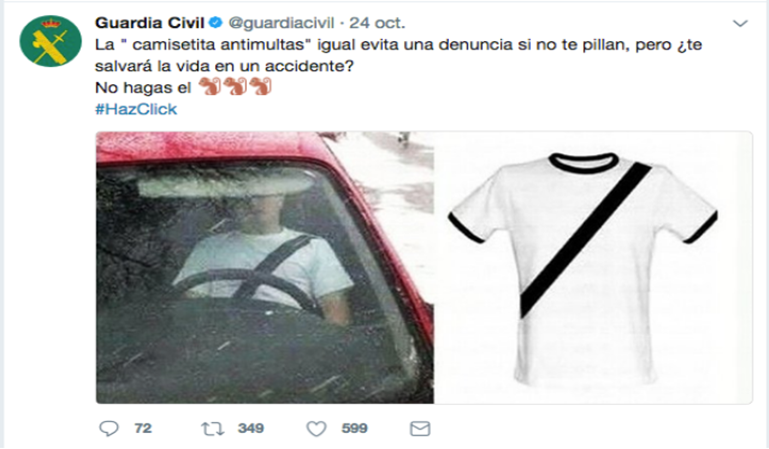 La camiseta anti multas