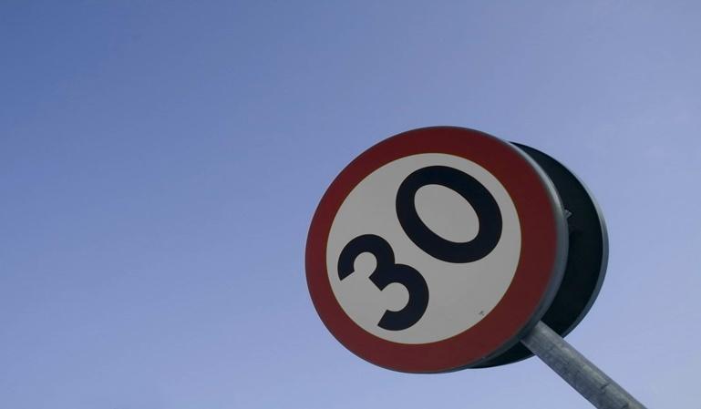 Límite de velocidad de 30 por hora en Pamplona
