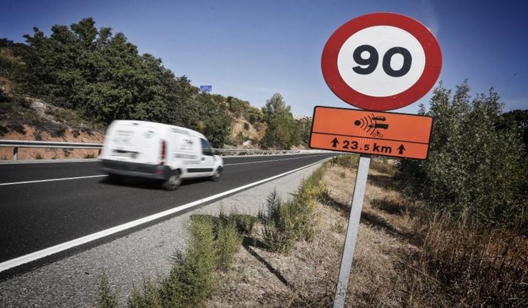 90 km/h como velocidad máxima permitida