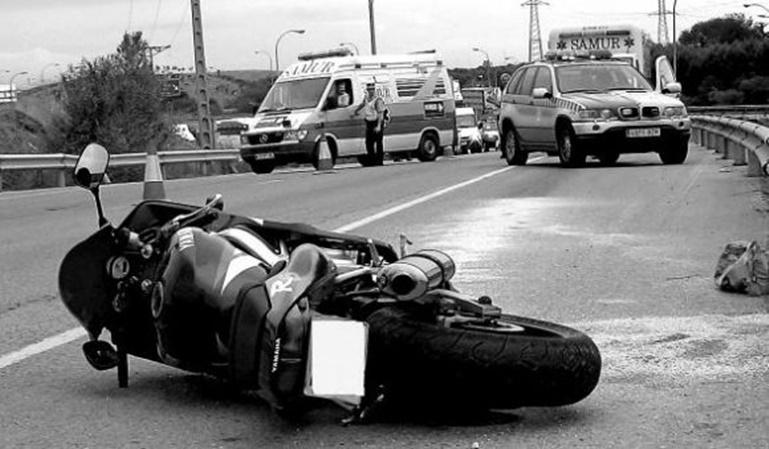 Cómo actuar en un accidente de moto