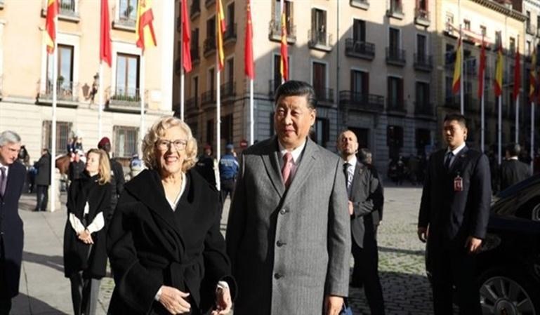 Caos en el centro de Madrid por la visita de Xi Jinping
