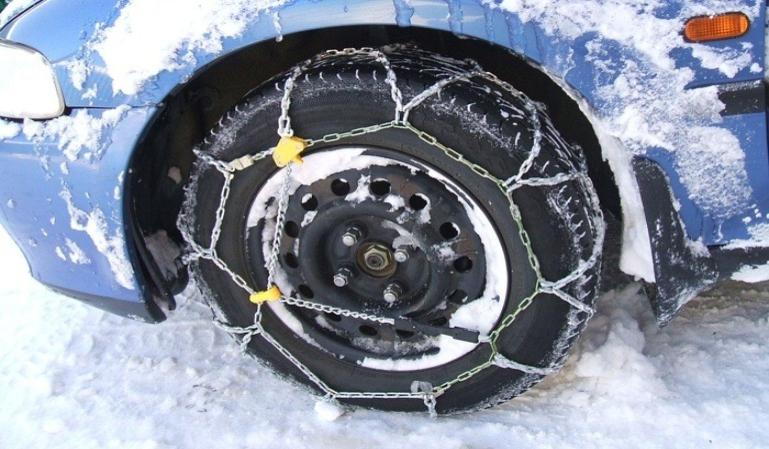 Utilización de cadenas en las ruedas de los coches