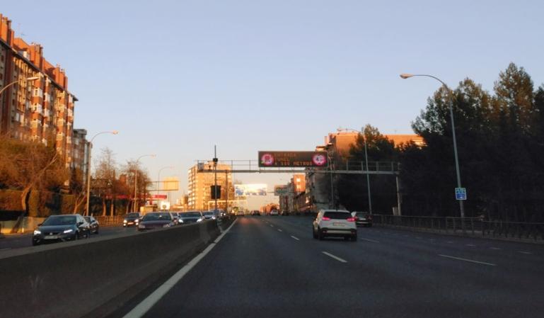 El radar de tramo de la A5 está en marcha
