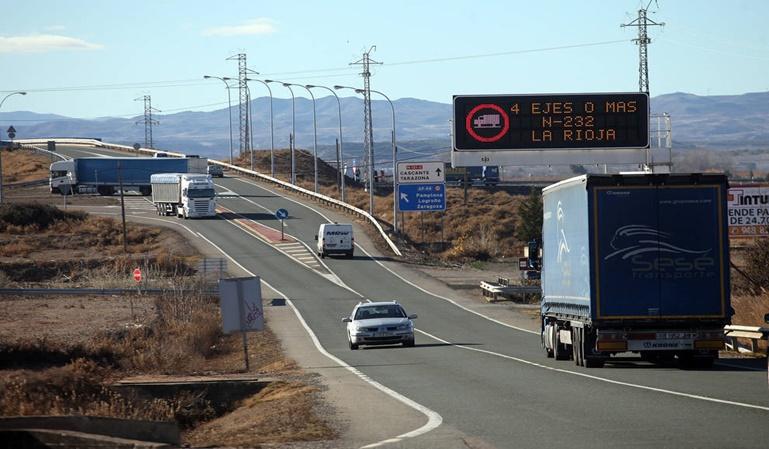 Los camiones podrán circular por la N-232