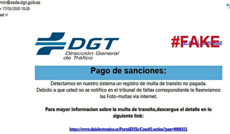 Alerta de phishing: la DGT avisa de una estafa de multas falsas