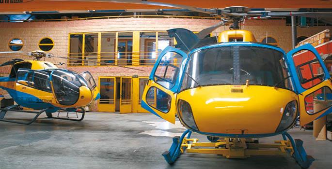 El rentable trabajo de cuidar  helicópteros Tráfico