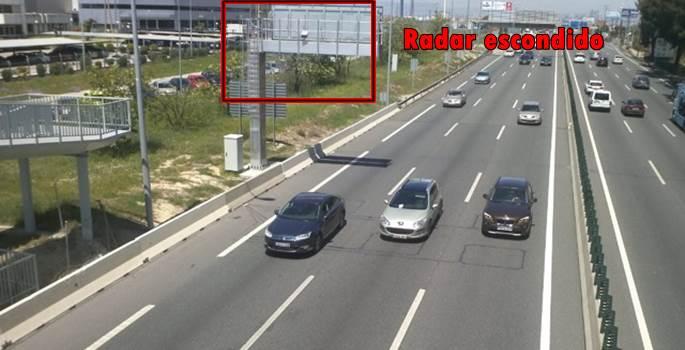 Los radares en el suelo, trampa de Tráfico para los conductores